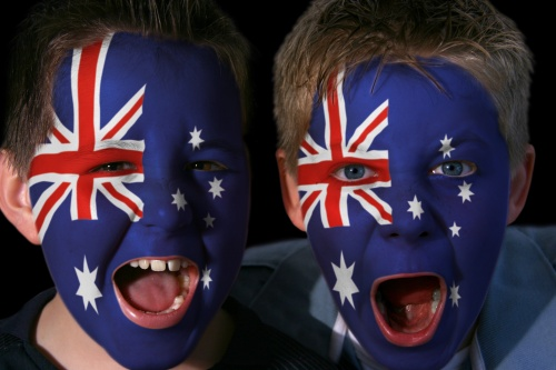 young australian rugby fans